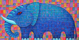 Blauer Elefant 2008 Stockfotografie
