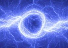 Blauer elektrischer Hintergrund Stockbild