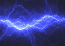 Blauer elektrischer Hintergrund Lizenzfreies Stockfoto