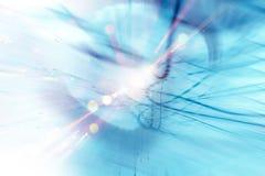 Blauer Energie-Hintergrund Stockfoto
