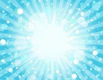 Blauer Explosion-Hintergrund Stockbilder