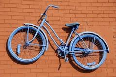 Blauer Fahrrad-Auszug Stockfoto