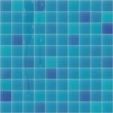 Blauer Faience mit Wassertropfen Stockfotografie