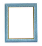Blauer FarbenBilderrahmen Stockbild