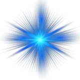 Blauer Farbentwurf mit einer Explosion Stockfoto