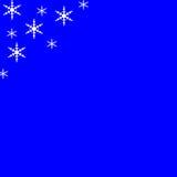Blauer Feiertags-Hintergrund mit weißen Sternen Stockfotografie