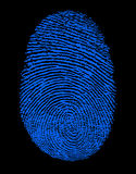 Blauer Fingerabdruck stockfotos