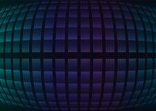 Blauer fisheye Zusammenfassungspixel-Kurvenhintergrund Lizenzfreies Stockbild