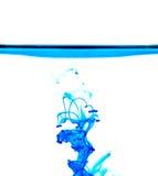 Blauer flüssiger abstrakter Hintergrund Stockbild
