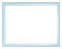 Blauer flacher einfacher Plastikbilderrahmen Stockfotos