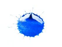 Blauer Fleck auf einem weißen Hintergrund Stockfotos