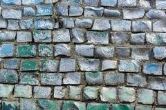 Blauer Fliesenbeschaffenheitshintergrund Stockbild