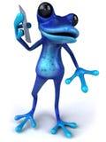 Blauer Frosch Lizenzfreie Stockfotos