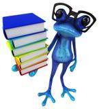 Blauer Frosch des Spaßes - Illustration 3D stock abbildung