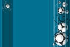 Blauer Fußball-Hintergrund Stockfotos