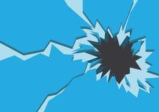 Blauer gebrochener Eis-Hintergrund Auch im corel abgehobenen Betrag Lizenzfreies Stockbild