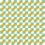 Blauer gelber Vektor des geometrischen Kreises des Musters lizenzfreie stockbilder
