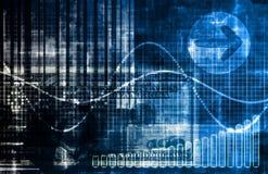 Blauer Geld-Technologie-Geschäfts-Hintergrund Stockbild
