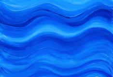 Blauer gemalter Hintergrund Stockfotografie