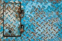 Blauer gemalter Metallhintergrund Lizenzfreies Stockbild