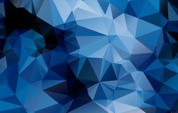 Blauer geometrischer Hintergrund   Stockfoto