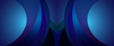 Blauer geometrischer Hintergrund 7 Stock Abbildung