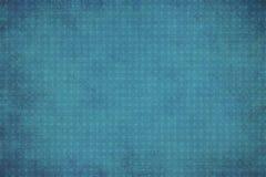 Blauer geometrischer Hintergrund der Weinlese mit Kreisen Stockbild