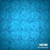 Blauer geometrischer Hintergrund mit Ort des Textes Stockfoto