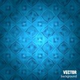 Blauer geometrischer Hintergrund mit Beispieltext Stockfotos