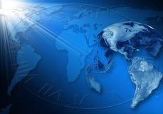 Blauer Geschäftshintergrund Lizenzfreies Stockbild