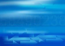 Blauer Geschäftshintergrund mit Exemplar spac Lizenzfreie Stockbilder