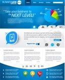 Blauer Geschäftsweb-Schablonenplan Lizenzfreies Stockfoto