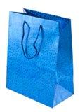 Blauer Geschenkbeutel Lizenzfreies Stockfoto
