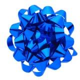 Blauer Geschenkbogen Stockbild
