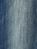 Blauer gestreifter Baumwollstoff Lizenzfreies Stockfoto