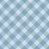 Blauer gestreifter Gingham-Fliesen-Muster-Wiederholungs-Hintergrund stock abbildung