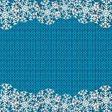Blauer gestrickter Hintergrund Stockfoto