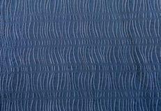 Blauer Gewebebeschaffenheits-Designhintergrund Stockfotos