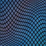 Blauer gewellter abstrakter Mosaikhintergrund Stockfotos