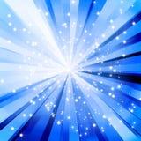 Blauer gewundener Hintergrund Lizenzfreies Stockbild