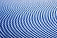 Blauer Gingham-Hintergrund Stockfotos