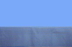Blauer Gingham-Hintergrund Stockfoto