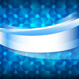 Blauer glühender Hintergrund des Aufklebers des neuen Produktes Lizenzfreies Stockfoto
