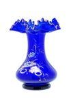 Blauer Glasvase Stockbild