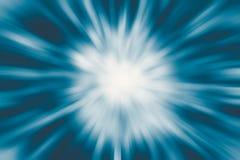 Blauer glatter Zoom beschleunigen Geschäftshohe geschwindigkeit Stockfotografie