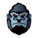 Blauer Gorillakopf Lizenzfreie Stockbilder