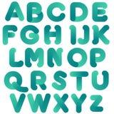Blauer grüner bunter Typografie-Entwurf lizenzfreie abbildung