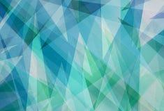 Blauer grüner Hintergrund mit abstrakten Winkeln und Dreieckschichten im abstrakten geometrischen Muster vektor abbildung