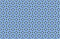 Blauer grüner weißes Mosaik-geometrischer Muster-Entwurf vektor abbildung