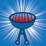 Blauer Grill-Grill Lizenzfreies Stockfoto